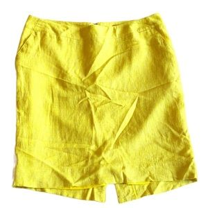 Yellow skirt with back slit size 10 by Merona